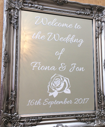 Mirror Welcome Sign The Perfect Wedding Shop