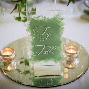 Painted acrylic table numbers
