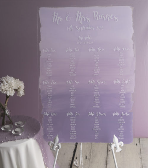 Ombre Painted Table plan