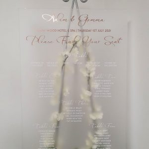 Frosted Acrylic Table plan