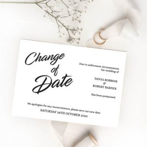 change of date cards
