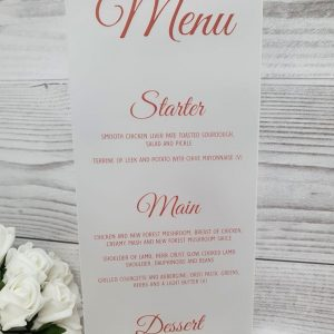 Frosted Acrylic Skinny Menu