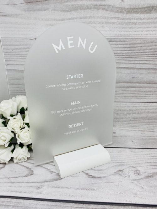 Arch Frosted Menu
