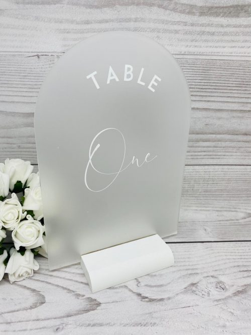 Arch Frosted Table Number